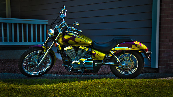 honda shadow spirit side shot