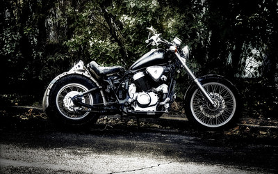 old grungy motorcycle
