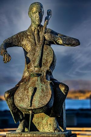 Cellist at the Harpa Iceland Copyright 2021 Steve Leimberg UnSeenImages Com DSC00208 copy