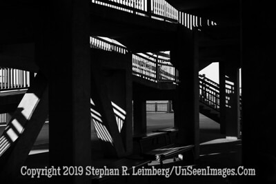 Shadows on Steps of Charlestown Harbor Building - Copyright 2018 Steve Leimberg UnSeenImages Com L1280199