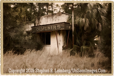 Souvenirs - Rt  17 Near White Oak - PAINTING - B&W Copyright 2017 Steve Leimberg - UnSeenImages Com L1190852
