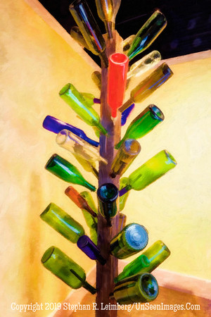 Ritz - Bottle Tree - PAINTING - Copyright 2016 Steve Leimberg - UnSeenImages Com  _Z2A4806