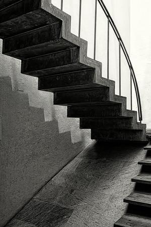 Staircase Quito B&W Copyright 2020 Steve Leimberg UnSeenImages Com _DSC1187
