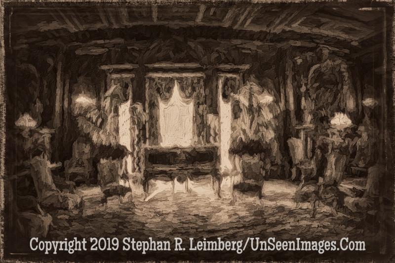 Living Room Vanderbilt Mansion B&W - Copyright 2014 Steve Leimberg - UnSeenImages Com IM1A0031
