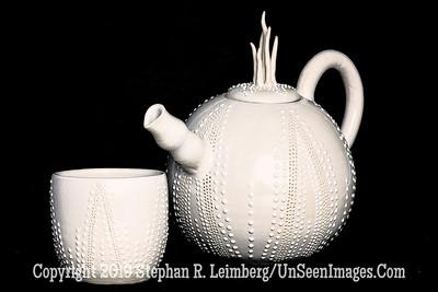 Lis Krawiecki - White Teapot and Cup -  Copyright 2016 Steve Leimberg - UnSeenImages Com 2016-10-18 10-28-20 (C)