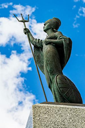 Monument to Falklands Royal Marines Copyright 2020 Steve Leimberg UnSeenImages Com _DSC1597