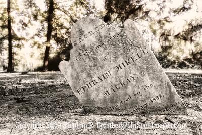 Grave Stone of Ephraim Mikell Mackay - Copyright 2017 Steve Leimberg UnSeenImages Com _Z2A1763