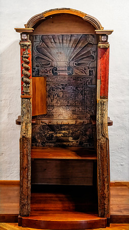 Chair in Monastary Quito Copyright 2020 Steve Leimberg UnSeenImages Com _DSC1503