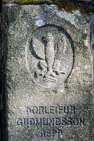 Headstone of Porleifur Gudmundsson Iceland Copyright 2021 Steve Leimberg UnSeenImages Com DSC00299 copy