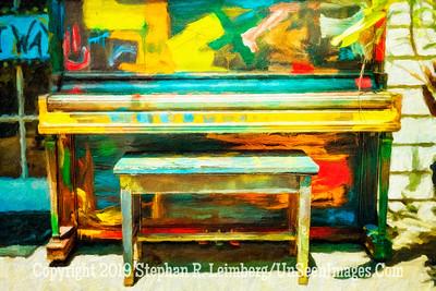 Piano at LuLus - PAINTING - Copyright 2016 Steve Leimberg - UnSeenImages Com L1000556