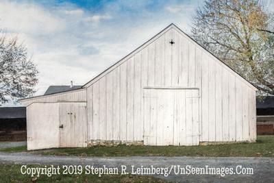 White Barn - PAINTING - Copyright 2017 Steve Leimberg UnSeenImages Com L1250193