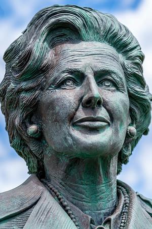 Margaret Thatcher Statue Falkland Islands  Copyright 2020 Steve Leimberg UnSeenImages Com _DSC1609