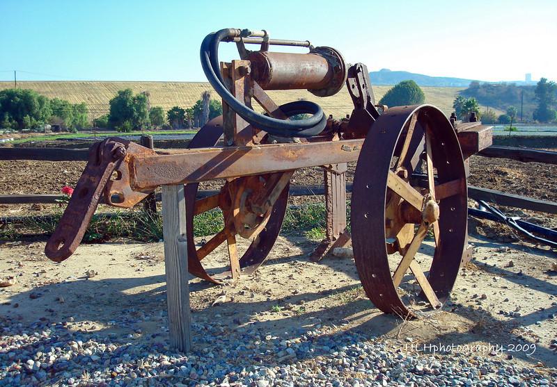 Tractor gear seen near Carbon Cyn Pk, CA