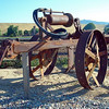 Tractor gear seen near Carbon Cyn Pk, CA