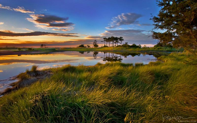 Sunset on Gordon's Pond in Delaware