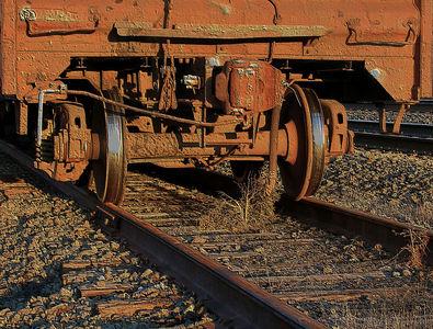 An old railroad car