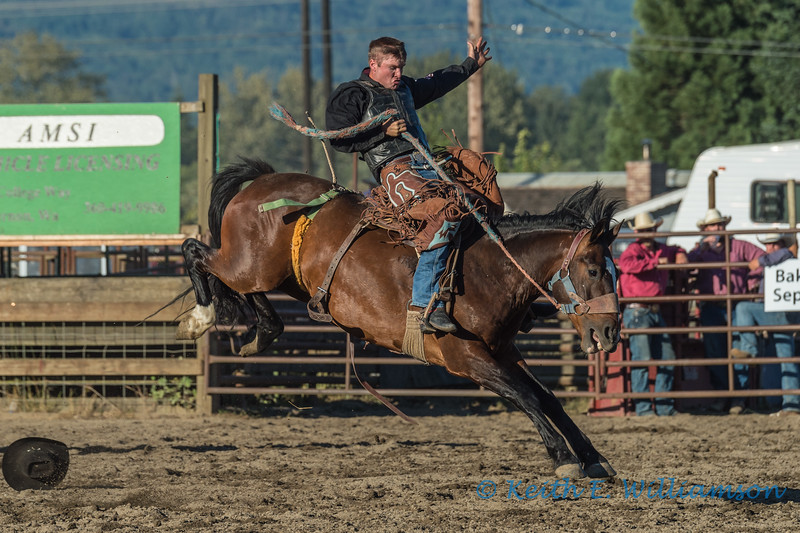 A great ride, bronc riding