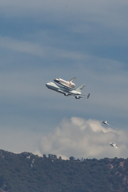 Shuttle Endeavour Flyover Los Angeles