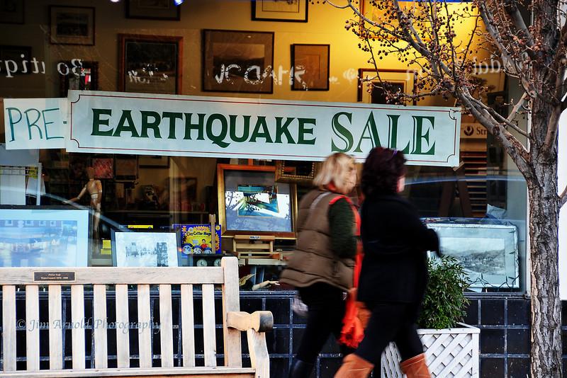 Pre-Earthquake Sale