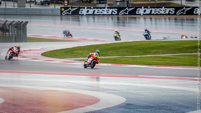These 9 bikes are on Turns 2 & 3. It's the beginning of the 45 minute practice period for the Moto2 class.