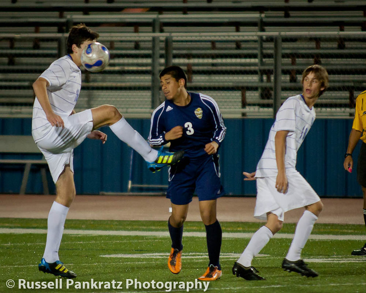 Senior Nite - Chaps Varsity vs Akins-1302  -  Walker had his soccer face on for this game.