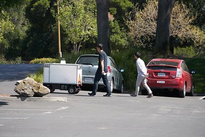Robot Delivery Testing in Silicon Valley Parking Lot