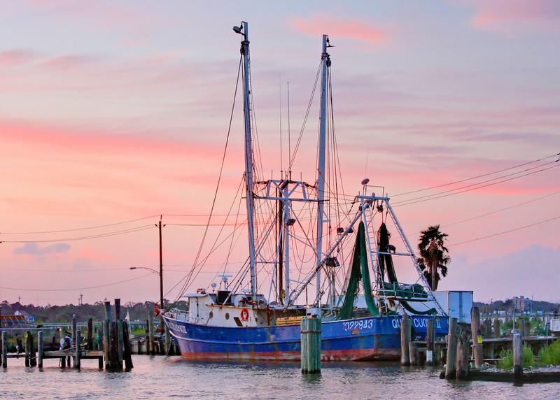 Shrimp boat sunset