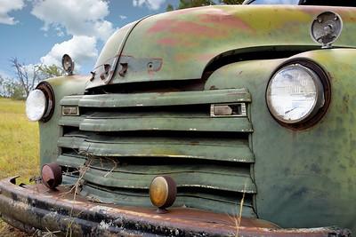 Green Truck in Field 1