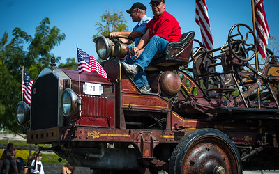 Dress up Parade 2012 Very old firetruck