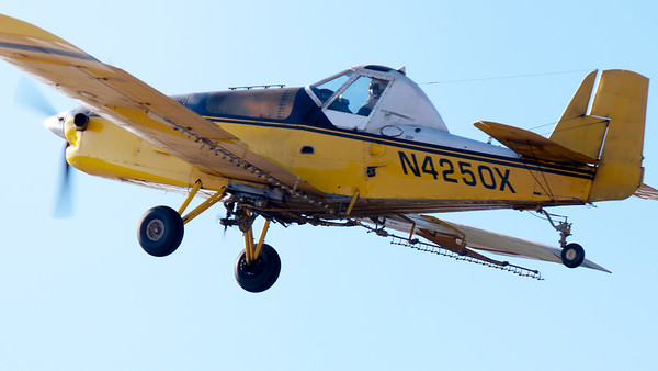 crop duster closeup