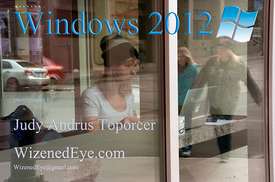 """This shot into Artissimo Cafe in the Byward Market was the """"poster"""" or title photo for my show in May, 2012.  It was comprised of the fifteen shots that follow in this gallery.  All are of, through or reflections on windows.  I hope you find them panefully interesting!"""