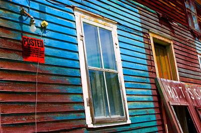 An abandoned house on Booth's Island, Black Lake, NY.