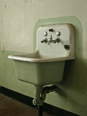 Old Sink in Cafeteria at Alcatraz