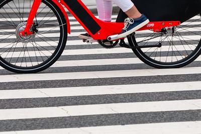 Rental Bicycle in Crosswalk