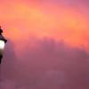Lamppost at Sunset