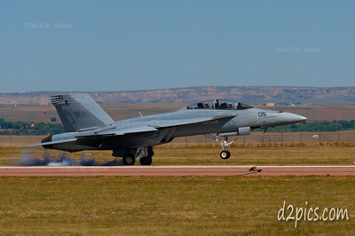 FA--18F Super Hornet doing a touch-n-go