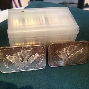 22 - 1 oz Silver Rounds &  2 - 1 oz Silver Ingots  -  $400