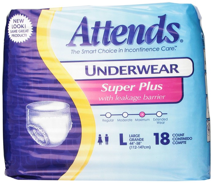 ATTENDS Super Plus with Leakage Barrier Adult Diaper Underwear  - Large You can not find this QUALITY in Costa Rica.  5 large boxes - each with 4 boxes that have 18 (retail in U.S. [not including shipping and customs in Costa Rica] - $80 a box)  40,000/box - OR Best Offer (buy more than 1 box - discounted!)  LOCATED: Palmares  See OTHER Used MEDICAL EQUIPMENT for Sale at: <br> http://LivingLifeInCostaRica.blogspot.com/2015/01/MedicalEquipmentForSaleCR.html   CONTACT:  <br> GarageSalesInCostaRica@gmail.com    •   8813-0949