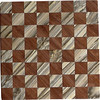 "Cbd Tiny New HB-Bub   This chess board is 8 1/4"" square. Each square is just over 1"" and is made with 2 triangles back to back.  Two types of wood are in the chessboard. The dark square is ""Bubinga"" from Africa, some call it African Rosewood. The light square is ""Hackberry"" from Missouri.  There are 128 pieces in the over lay using two kinds of wood. The edges are rounded with no border.<br /> <br /> Also on the back, I signed it, listed the wood, and dated it. After the date the words ""Foot Cut"" lets you know it was made on the foot powered table saw.<br /> <br /> On this chessboard I used some Hackberry with some dark strikes in it and some of it was highly figured"