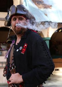 A smoking pirate