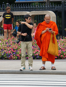 Monk asking for directions