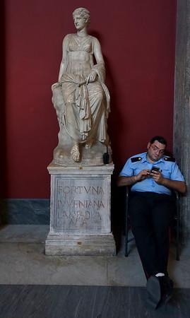 Guarding Roman sculptures