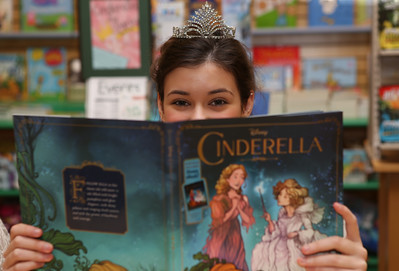 Princess reads a fairy tale
