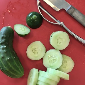 Cucumbers and then pickles