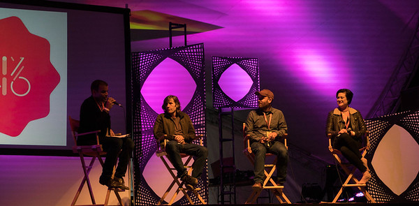 Jeremy Loveday, Rodney Mullen, Brett Gaylor, and Brianna Wettlaufer at Thinklandia 2016
