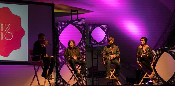 Jeremy Loveday, Rodney Mullen, Brett Gaylor, and Brianna Wettlaufer at Thinklandia 2016