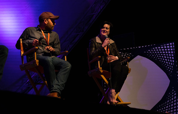 Brianna Wettlaufer, CEO of Stocksy, takes questions from the audience at Thinklandia 2016.