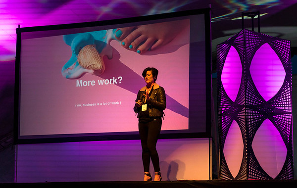Brianna Wettlaufer, CEO of Stocksy, speaks at Thinklandia 2016