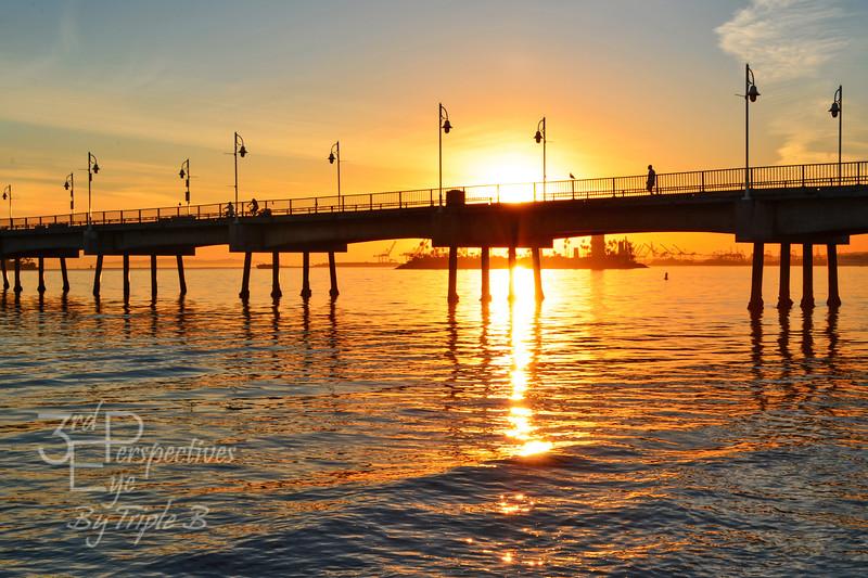 Silky Sunset at the Pier - Long Beach, CA