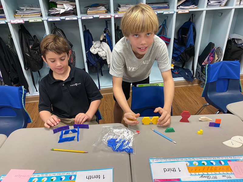 Fraction Museum in Mrs Renton's Math class